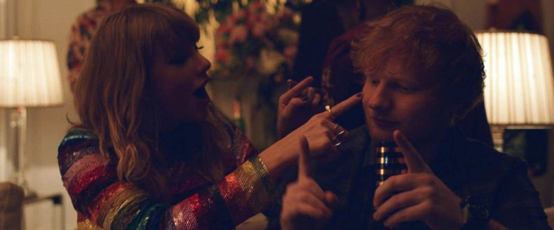 Taylor swift ed sheeran end game video image