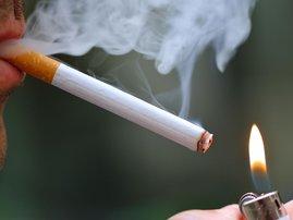 Teenage smoking close-up