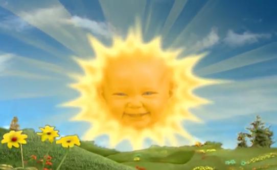 Sosok The Sun Baby di dalam serial Teletubbies