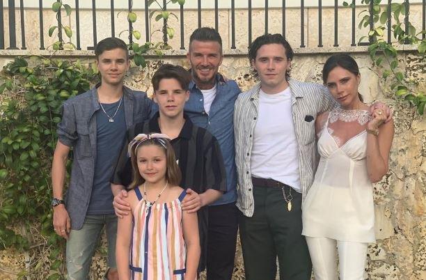 David Beckham children LA Galaxy statue