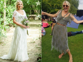 A bride recycles her wedding dress to everyday wear and it looks amazing