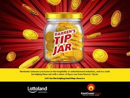 Darren's Tip Jar with Lottoland