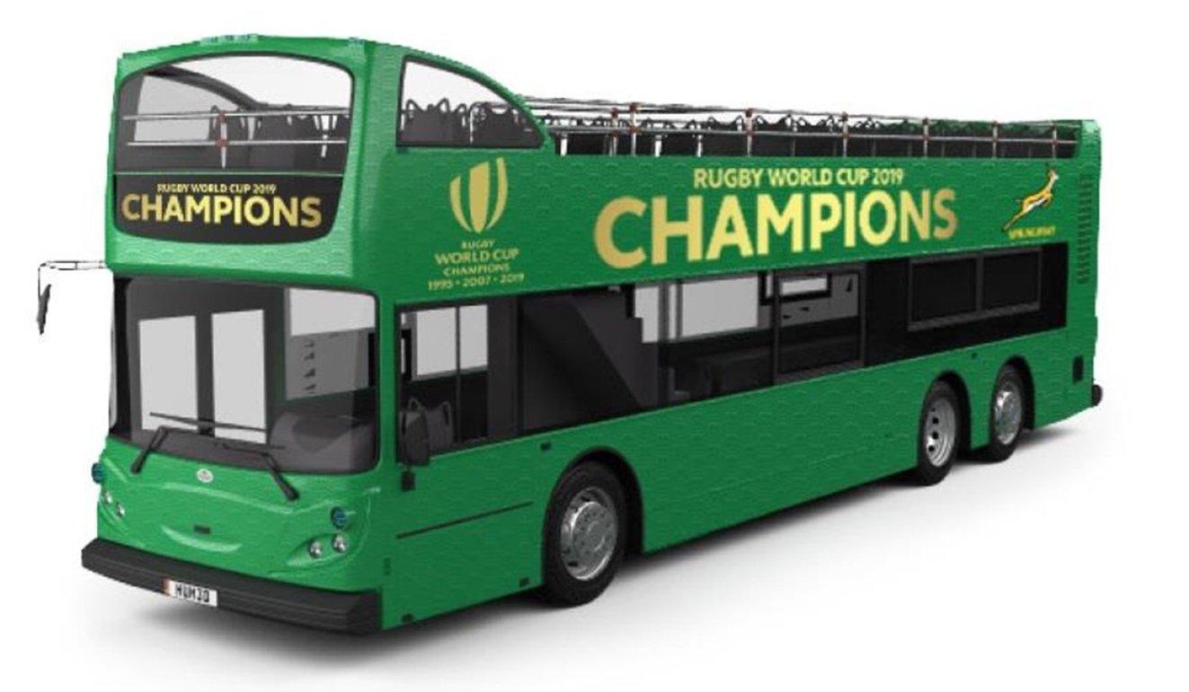 SA Rugby tour bus