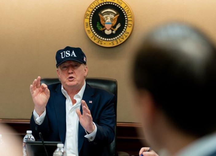 Donald Trump Covid briefing
