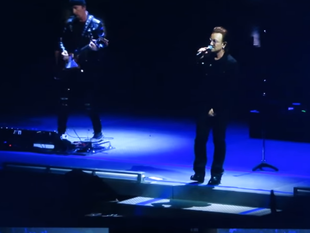 U2 performing in Berlin 2018