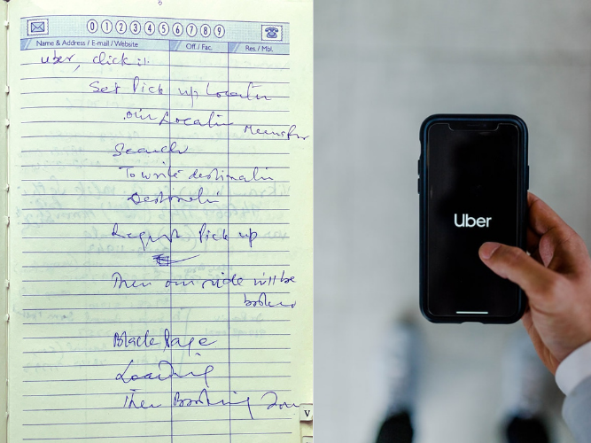 SEE: A father writes down steps on how to book an Uber, it get tweeps talking about the things their parents do