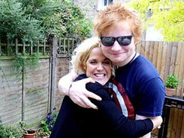 Ed Sheeran with Amy Wadge