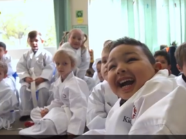 WATCH: With karate ,these kids are taking back their power from cancer