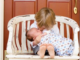 What is love image baby kissing