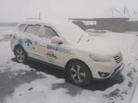Snow on Sani Pass