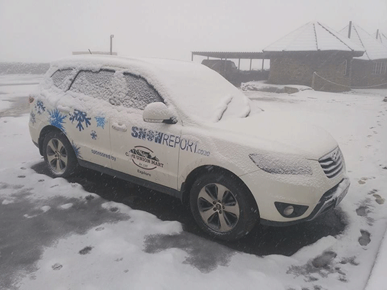 Snow on Sani Pass