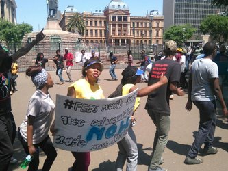 Pro-student movements take aim at private security, ANC