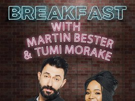 breakfast with martin and tumi neon