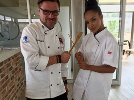 liesl laurie with chef image