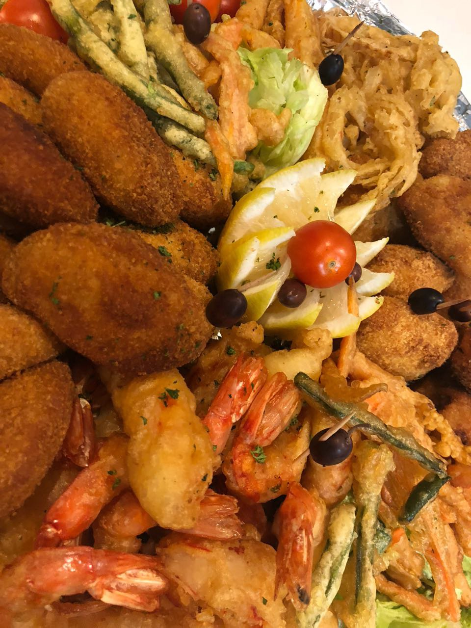 close up with portuguese festival platters
