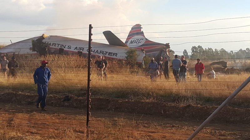 Plane crashes in Pretoria