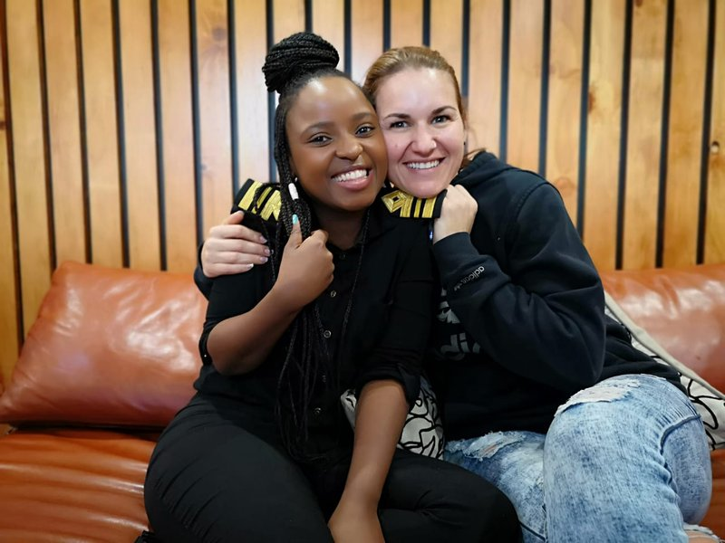 Keri Miller and Londy Ngcobo