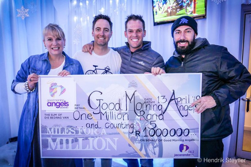 The #MilesForAMillion team have raised more than a million!