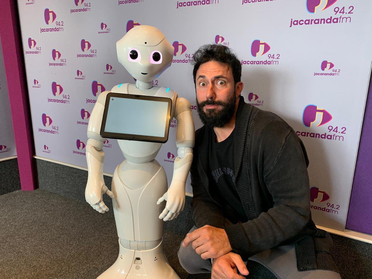The adorable humaniod robot Pepper answers your questions