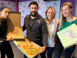 We are celebrating No Diet Day with pizza for breakfast!