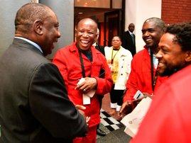 Cyril Ramaphosa and EFF