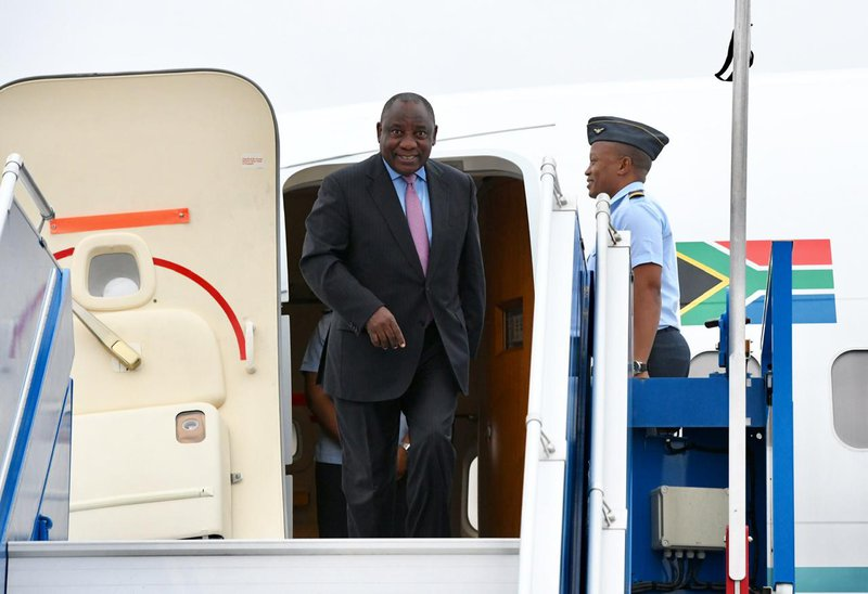 President Cyril Ramaphosa arrived in France on Sunday ahead of the annual G7 summit of world leaders.