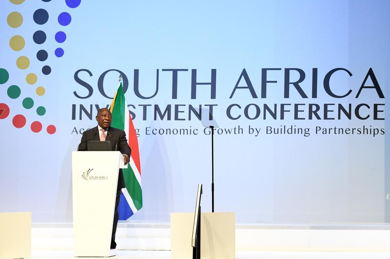 Ramaphosa at investment conference