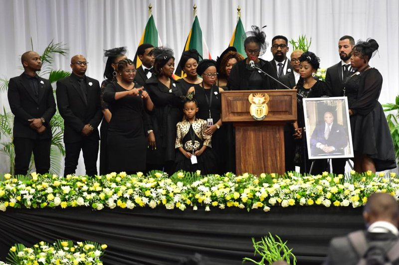 Richard Maponya funeral children and grandchildren
