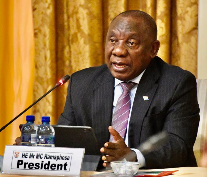 His excellency President Cyril Ramaphosa at Presidential Coordinating Council (PCC).