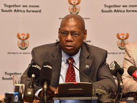 Health minister Zweli Mkhize press briefing on coronavirus