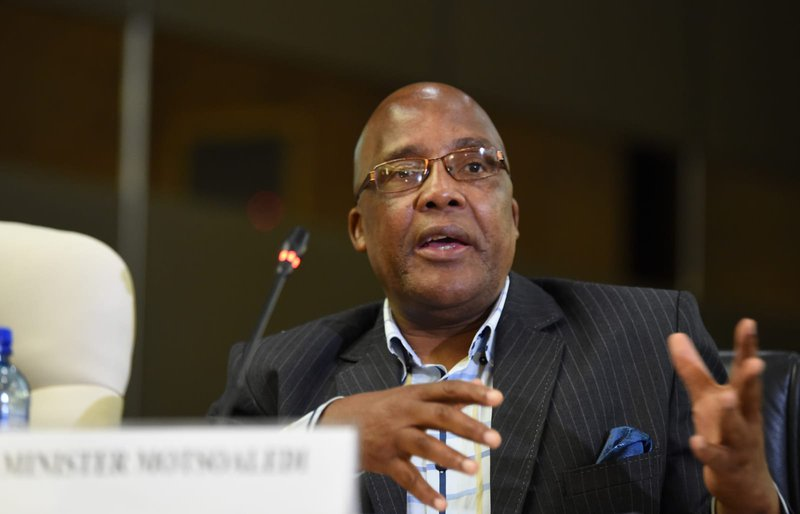 Aaron Motsoaledi at the Covid19 briefing