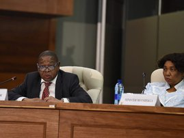 Basic Education Minister Angie Motshekga and Minister of Higher Education Blade Nzimande