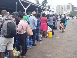 Durban commutes lockdown