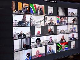 Ramaphosa in virtual sitting
