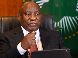 President Cyril Ramaphosa vows to protect workers' collective bargaining power on eve of protests