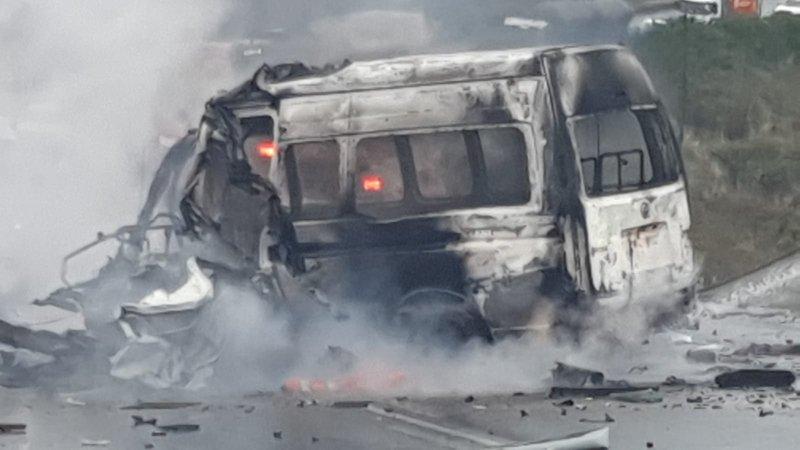 13 killed in horrific KZN crash involving truck, minibus