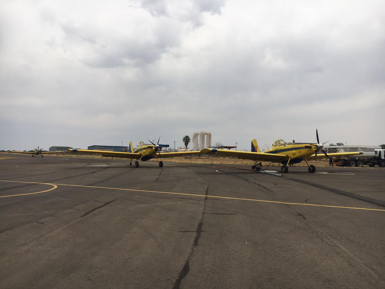 two spotter plane