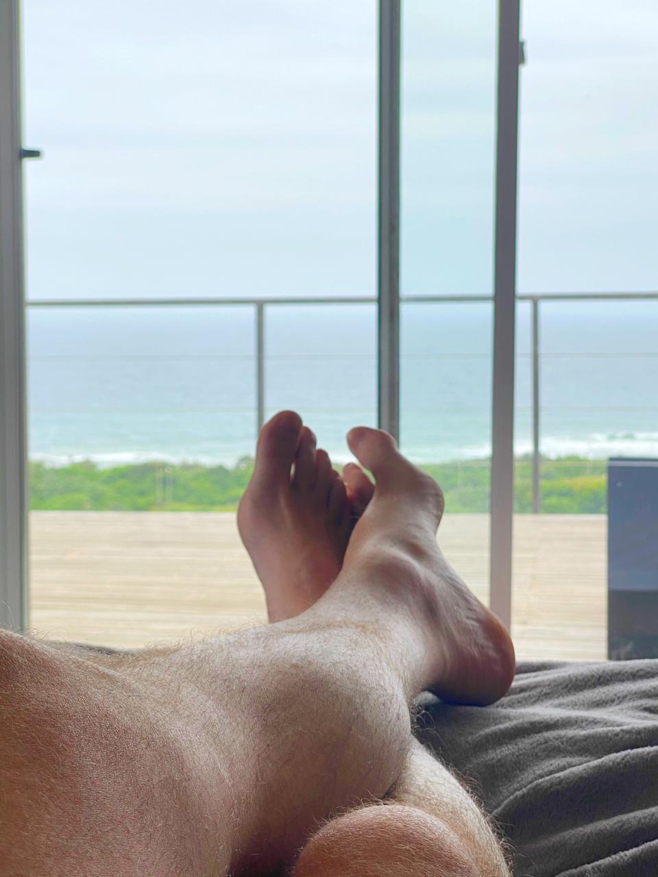 Darren Maule enjoying the sea breeze