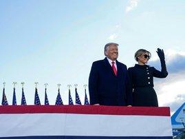 Donald Trump and wife Melania Trump