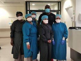 Sky Tshabalala healthcare worker