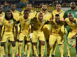 Benin pose before playing Guinea-Bissau at the 2019 Africa Cup of Nations in Egypt