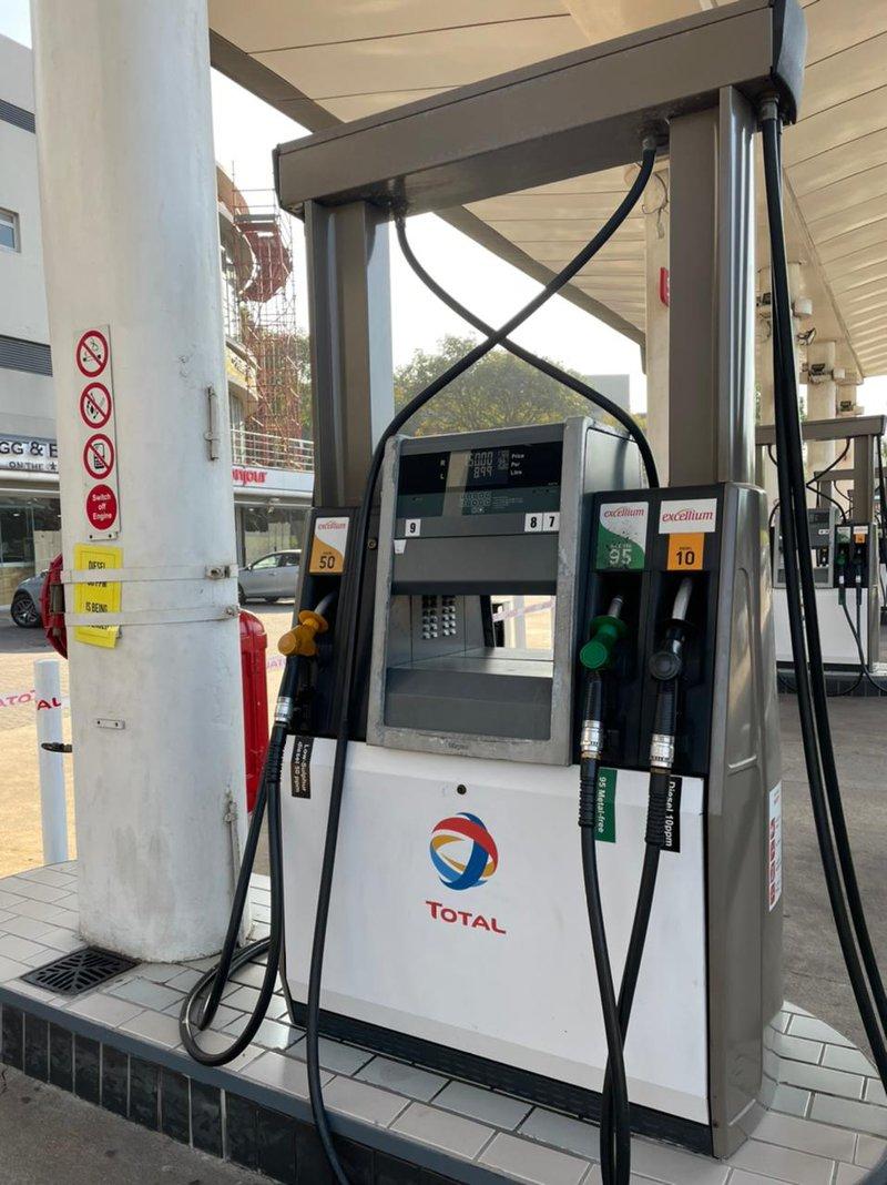 Petrol pump at petrol station in Umhlanga