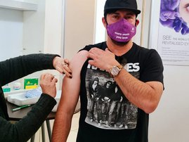 Martin Bester vaccinated