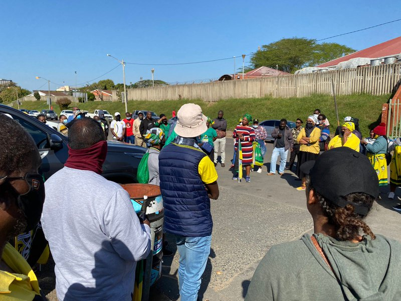 supporters of Jacob Zuma in durban