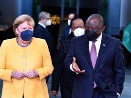 Cyril Ramaphosa Angela Merkel