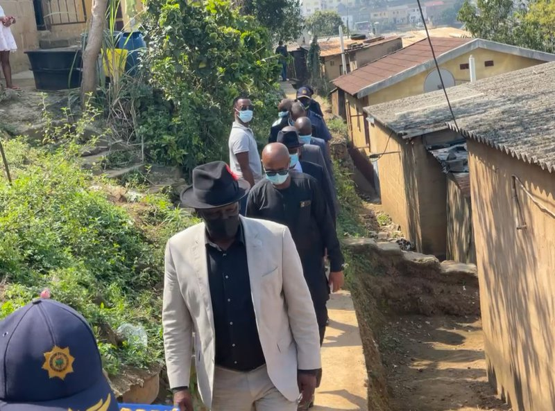 Police Minister Bheki Cele drive-by shooting in Inanda