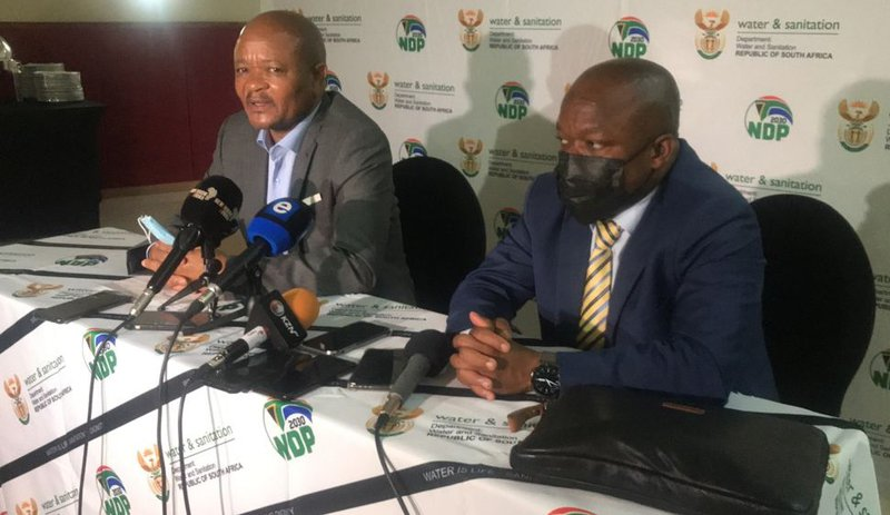 Water and Sanitation Minister Senzo Mchunu in Durban 13 Oct