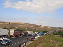 N3 at a standstill as protesting truckers target highway