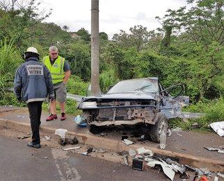 Three killed, 5 injured in Durban crash