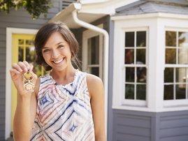Woman buying property
